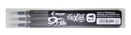 """PILOT Rollertoll betét, 0,25 mm, törölhető, PILOT """"Frixion Ball/Clicker"""", fekete"""