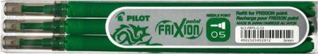 """PILOT Rollertoll betét, 0,25 mm, tűhegyű, törölhető, PILOT """"Frixion Point"""", zöld"""