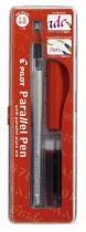 "PILOT Töltőtoll, 0,1-1,5 mm, piros kupak, PILOT ""Parallel Pen"""