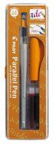 """PILOT Töltőtoll, 0,5-2,4 mm, narancssárga kupak, PILOT """"Parallel Pen"""""""