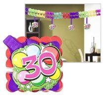 Girland, 400x12x12 cm, 30. születésnap