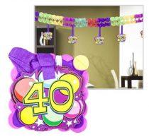 Girland, 400x12x12 cm, 40. születésnap