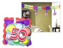 Girland, 400x12x12 cm, 50. születésnap