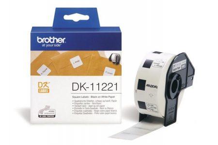 BROTHER Papír címke, QL nyomtatóhoz, 23 x 23 mm, BROTHER