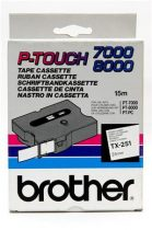 """BROTHER Feliratozógép szalag, 24 mm x 15 m, BROTHER, """"TX-251"""" fehér-fekete"""