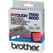 """BROTHER Feliratozógép szalag, 24 mm x 15 m, BROTHER, """"TX-451"""" piros-fekete"""