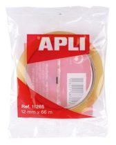"""APLI Ragasztószalag, 12 mm x 66 m, APLI """"Transparent"""", átlátszó"""