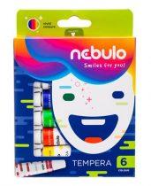 NEBULO Tempera készlet, 6 darabos, NEBULO