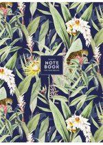 """SHKOLYARYK Füzet, tűzött, vonalas, A4, 80 lap, SHKOLYARYK """"Tropic notebook"""", vegyes"""