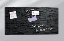 """SIGEL Mágneses üvegtábla,  46x91 cm, SIGEL """"Artverum® """", pala mintázat"""