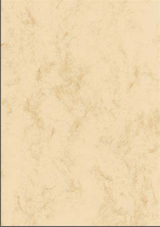 SIGEL Előnyomott papír, kétoldalas, A4, 200 g, SIGEL, bézs, márványos