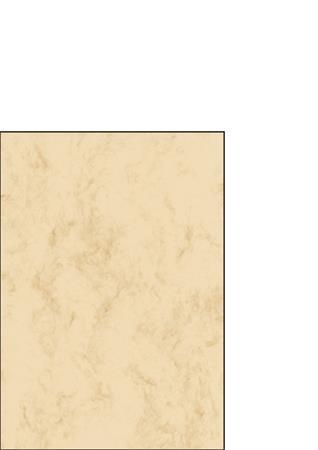 SIGEL Előnyomott papír, kétoldalas, A5, 90 g, SIGEL, bézs, márványos