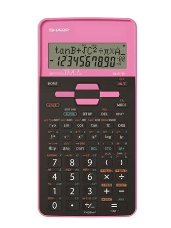 """SHARP Számológép, tudományos, 273 funkció, SHARP """"EL-531"""", pink"""