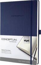 """SIGEL Jegyzetfüzet, exkluzív, A4, kockás, 194 oldal, keményfedeles, SIGEL """"Conceptum"""", éjkék"""