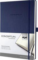 """SIGEL Jegyzetfüzet, exkluzív, A4, vonalas, 194 oldal, keményfedeles, SIGEL """"Conceptum"""", éjkék"""