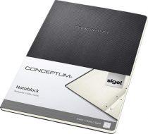 """SIGEL Füzet, exkluzív, A4, vonalas, 60 lap, keményfedeles, SIGEL """"Conceptum"""", fekete"""