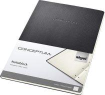 """SIGEL Füzet, exkluzív, A4, vonalas, 60 lap, lyukasztott, keményfedeles, SIGEL """"Conceptum"""", fekete"""