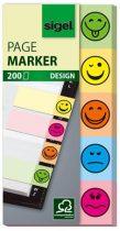 """SIGEL Jelölőcímke, papír, 5x40 lap, 20x50 mm, SIGEL """"Smile"""", vegyes szín"""