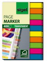 """SIGEL Jelölőcímke, műanyag, 10x40 lap, 6x50 mm, SIGEL """"Micro"""", vegyes szín"""