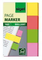 """SIGEL Jelölőcímke, papír, 4x40 lap, 20x50 mm, SIGEL """"Brilliant"""", vegyes szín"""