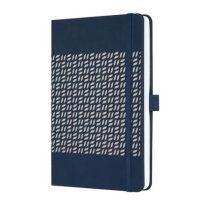 """SIGEL Jegyzetfüzet, exkluzív, 135x203 mm, vonalas, 174 oldal, keményfedeles, SIGEL """"Jolie"""", éjkék"""
