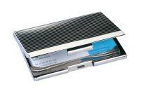 SIGEL Névjegytartó tárca, fém, 20 db-os, SIGEL, ezüst