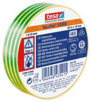 """TESA Szigetelőszalag, 19 mm x 20 m, TESA """"Professional"""", zöld-sárga"""