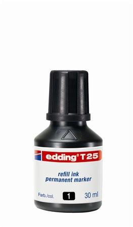 """EDDING Utántöltő alkoholos markerhez, EDDING """"T25"""", fekete"""
