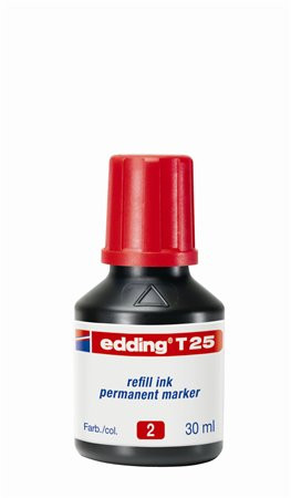 """EDDING Utántöltő alkoholos markerhez, EDDING """"T25"""", piros"""