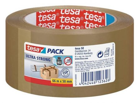 "TESA Csomagolószalag, 50 mm x 66 m, TESA ""Ultra Strong"", barna"