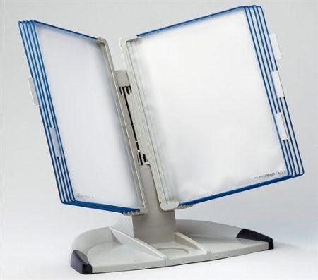 """TARIFOLD Bemutatótábla tartó, asztali, A4, 10 férőhelyes, TARIFOLD """"Design"""", kék"""