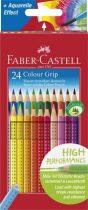"""FABER-CASTELL Színes ceruza készlet, háromszögletű, FABER-CASTELL """"Grip 2001"""", 24 különböző szín"""