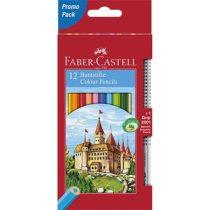 """FABER-CASTELL Színes ceruza készlet, hatszögletű, FABER-CASTELL """"Classic"""", 12 különböző szín + 1 db grafitceruza"""