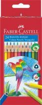 """FABER-CASTELL Színes ceruza készlet, háromszögletű, FABER-CASTELL """"Papagáj"""", 24 különböző szín"""