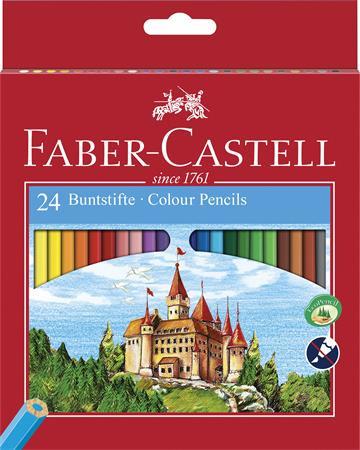 """FABER-CASTELL Színes ceruza készlet, hatszögletű, FABER-CASTELL """"Classic"""", 24 különböző szín"""