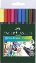 """FABER-CASTELL Tűfilc készlet, 0,4 mm, FABER-CASTELL """"Grip"""", 10 különböző szín"""