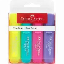 """FABER-CASTELL Szövegkiemelő készlet, 1-5 mm, FABER-CASTELL """"1546 Pastel"""", 4 különböző szín"""