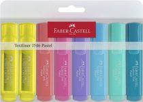 """FABER-CASTELL Szövegkiemelő készlet, 1-5 mm, FABER-CASTELL """"1546 Pastel"""", 8 különböző szín"""