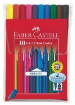 """FABER-CASTELL Filctoll készlet, háromszögletű, FABER-CASTELL """"Grip"""", 10 különböző szín"""
