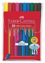 """FABER-CASTELL Rostirón készlet, háromszögletű, FABER-CASTELL """"Grip"""", 10 különböző szín"""