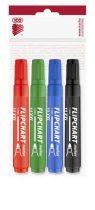"""ICO Flipchart marker készlet, 1-3 mm, kúpos, ICO """"Artip 11 XXL"""", 4 különböző szín"""