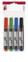 """ICO Alkoholos marker készlet, 1-3 mm, kúpos, ICO """"Permanent 11 XXL"""", 4 különböző szín"""