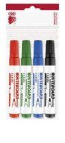 """ICO Tábla- és flipchart marker készlet, 1-3 mm, kúpos, ICO """"Plan 11 XXL"""", 4 különböző szín"""