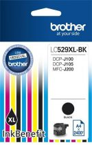 BROTHER LC529XLB Tintapatron DCP-J100, J105 nyomtatóhoz, BROTHER, fekete, 2400 oldal