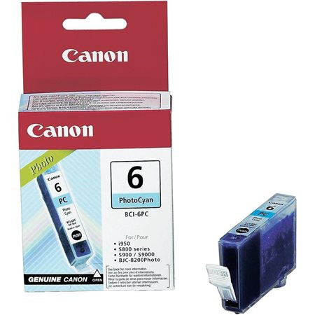 CANON BCI-6PC Fotópatron BJC-8200 Photo, i905d nyomtatókhoz, CANON, cián, 13ml
