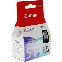 CANON CL-511 Tintapatron Pixma MP240, 260, 480 nyomtatókhoz, CANON színes, 244 oldal