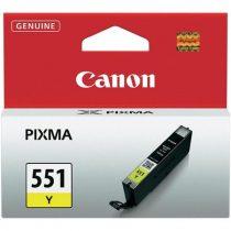CANON CLI-551Y Tintapatron Pixma iP7250, MG5450 nyomtatókhoz, CANON sárga, 7ml