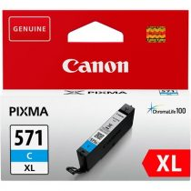 CANON CLI-571CXL Tintapatron Pixma MG5750, 6850,7750 nyomtatókhoz, CANON, cián, 11 ml