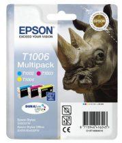 EPSON T10064010 Tintapatron multipack Stylus SX600FW nyomtatóhoz, EPSON c+m+y, 33,3ml