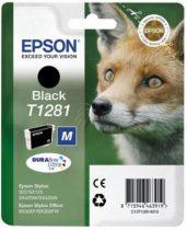 EPSON T12814011 Tintapatron Stylus S22, SX125, SX420W nyomtatókhoz, EPSON fekete, 5,9ml